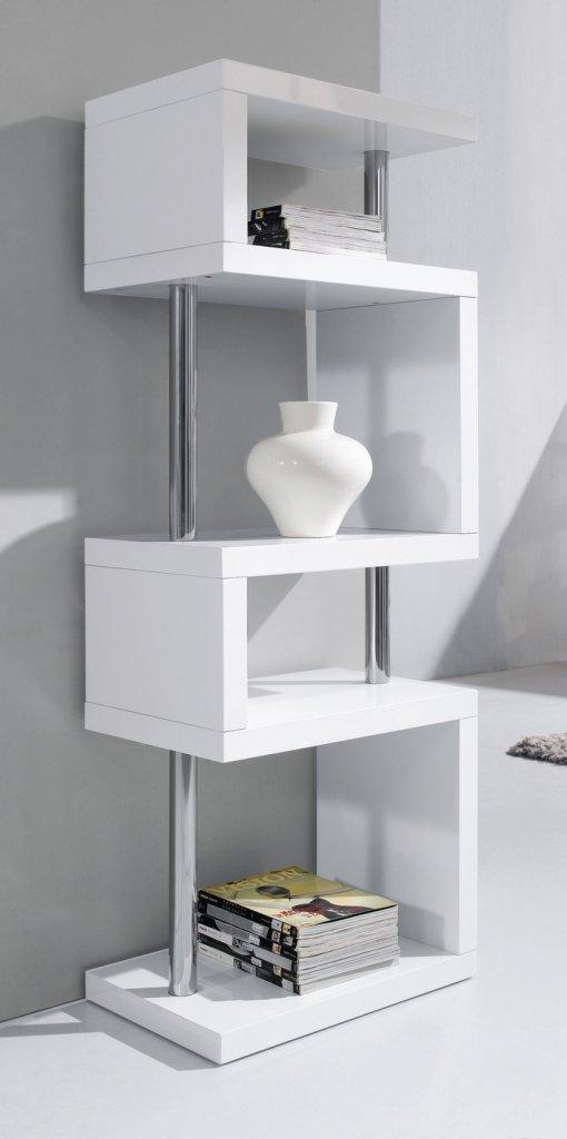 bokhylla barn vit ~ bokhylla vit 60x40x165cm  glossy vit & svart  mobelkungense