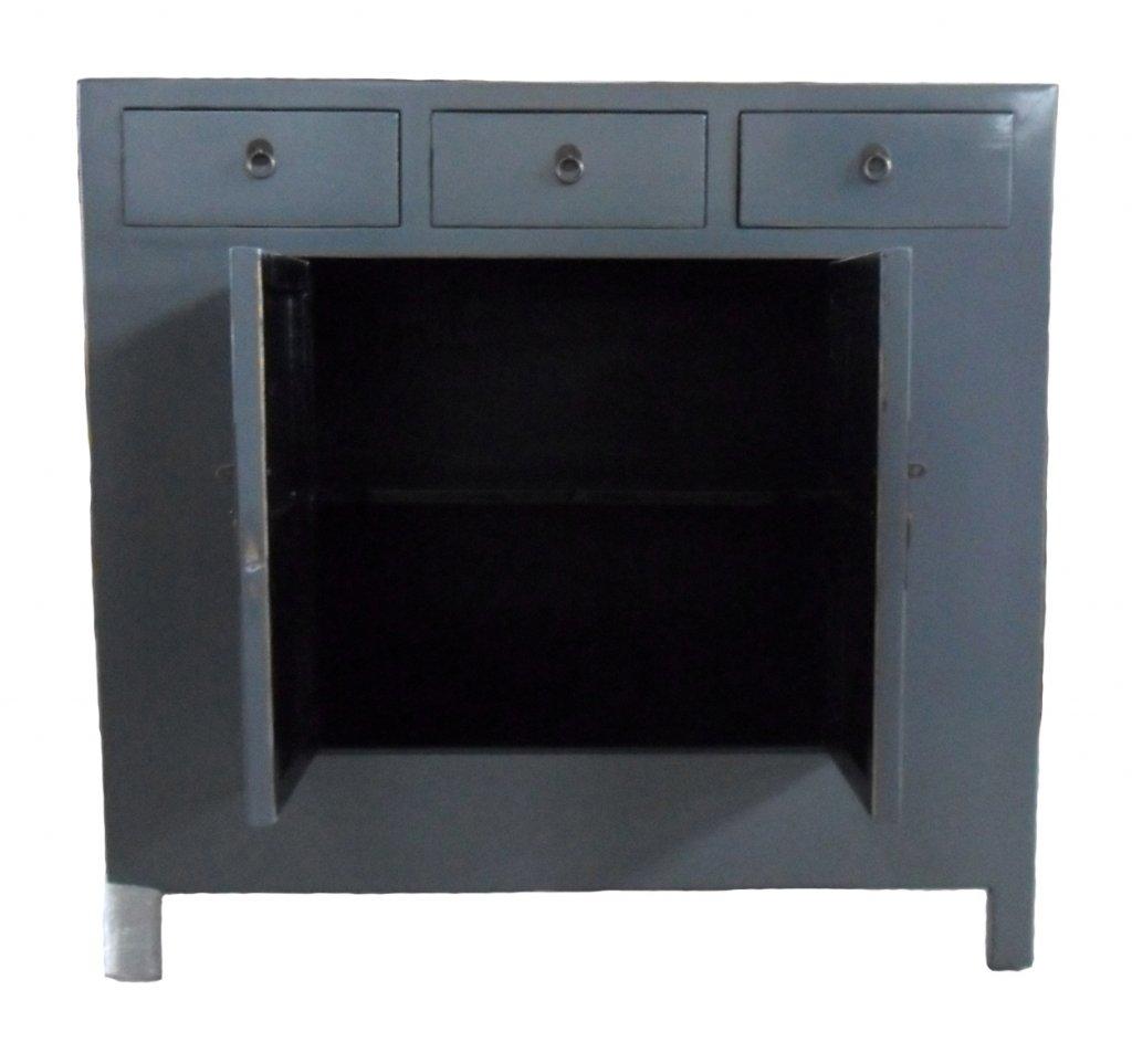 Skänk Grå 110x45x105cm Asiatiska Möbler Mobelkungen Se