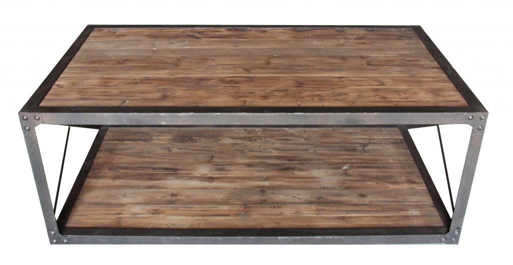 Soffbord Industri brun 135x75x50cm - Industriell stil - Texas ...