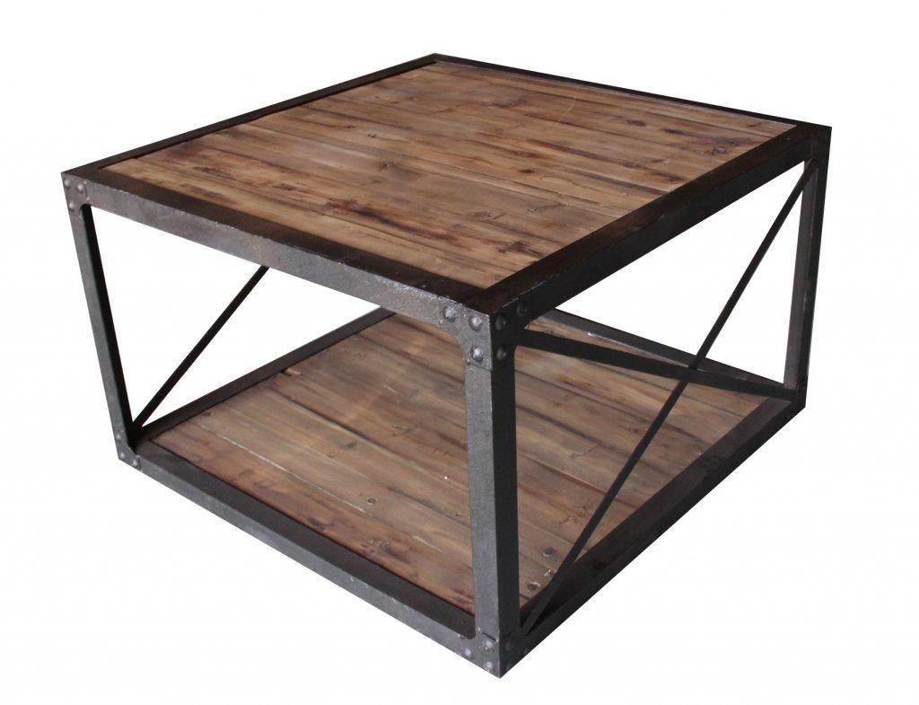 Soffbord Industri brun 80x80x50cm - Industriell stil - Texas ...