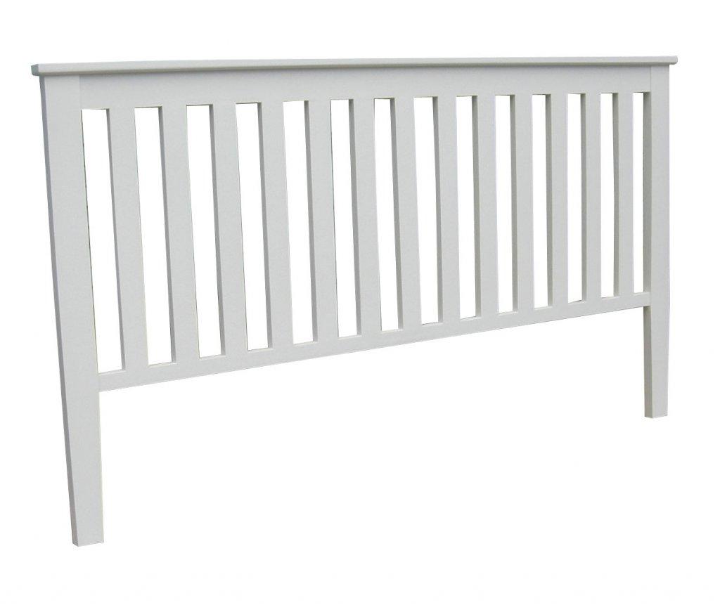 Sänggavel Ribbad Vit 155x110x5cm  Vita möbler