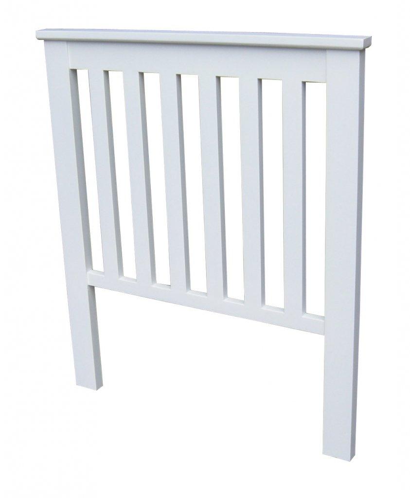 sänggavel vit ~ sänggavel ribbad vit 95x110x5cm  alezzi vit  mobelkungense