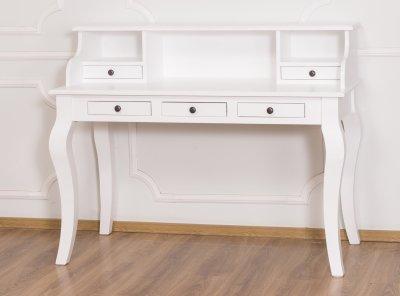 Nya Skrivbord Vit 130x60x103cm - Stolar - Bord - Massivt trä - Premium FZ-75