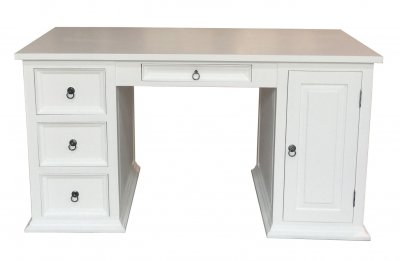 Omtyckta Skrivbord Vit 140x60x75cm - Garderober, Skrivbord - Alezzi Vit KD-77