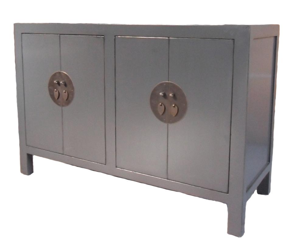 Skänk Grå 120x45x79cm Asiatiska Möbler Mobelkungen Se