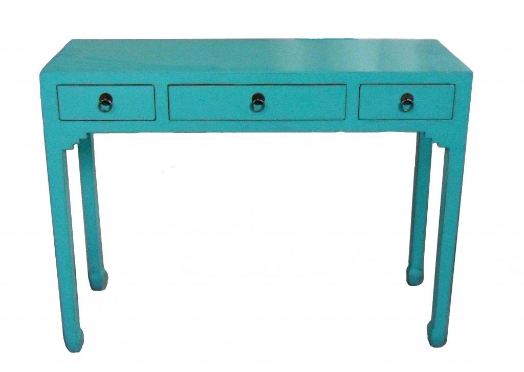 Skrivbord Turkos Bredd 99,5 X Djup 35 Xhöjd 76cm Asiatiska Möbler Mobelkungen Se