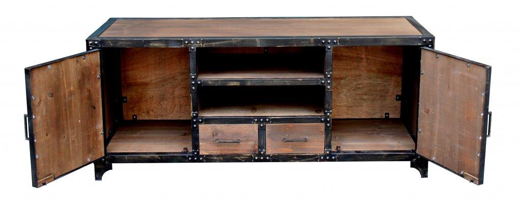 Unika TV bänk Industri brun 150x50x65cm - Industriell stil - Mobelkungen.se SR-97